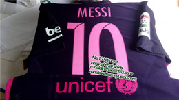Wholesale 1617 slim fit black away MSN jersey player version pink font top quality
