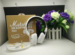 Marshall Major Headset With Mic Deep Bass DJ Hi-Fi Headphones HiFi Earphones Professional DJ Monitor Headphones free DHL