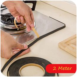 Wholesale Gas Stove Cooker Slit Antifouling Sealing Strip Edge Tape Window Sealing Strip Kitchen Tool