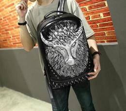 Chaîne grand sac à vendre-Factory sales brand new man sac à dos homme modèle de chaîne tau motif tridimensionnel de trousse à grande capacité 3D et rivet