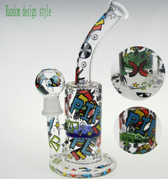 Wholesale SCRAWL BONG SKETCH BONG WATER PIPE DESIGNS SKETCH BONGS SKETCH DESIGNS ARTS WATER PIPE OUCHKICK BONG RANDOM DESIGH PATTERN WITH A GLASS BOWL