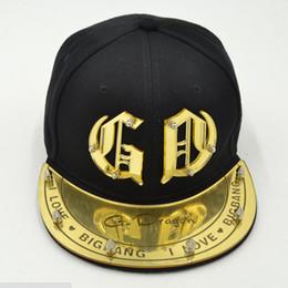 Wholesale BIGBANG fashion snapback hats G Dragon Acrylic hiphop caps GD rivet adult Shade baseball caps