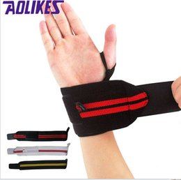 Aolikes Weight Lifting Sports Wristband Gym Wrist Thumb Support Straps Wraps Bandage Fitness Training Safety Hand Bands wrist brace