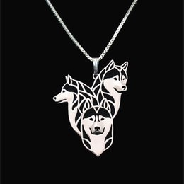 Siberian Husky family Necklace Pendant Silver Gold Necklaces & Pendants For Women Casual Jewelry Charms Dog Necklace free shipping