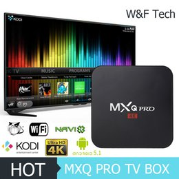 Wholesale Hot MX2 MXQ PRO Quad Core Android TV Box Android TV BOX With Customized KODI Fully Loaded K