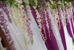 Wholesale Dreamy Artificial Flowers Simulation Wisteria Flower Vine Wedding Supplies Long Short Silk Bouquet Garden Bridal Accessories Z413