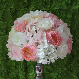 Wholesale EMS CM wedding paths guide road lead flower hydrangea flowers flower decoration balls table centerpiece