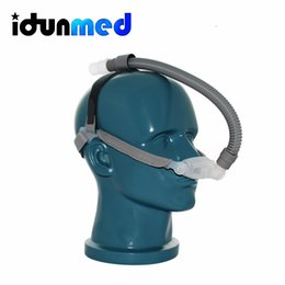 Wholesale idunmed NP1 CPAP APAP BiPAP Nasal Nose Pillows Respirator Mask With Adjustable Headgear Tube For Sleep Apnea Anti Snoring