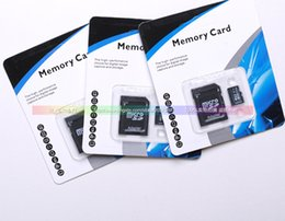 Wholesale DHL GB Micro TF Card for ZTE Samsung Galaxy Tab S4 S5 Note Android SmartPhone SD Memory Card with Free Adapter