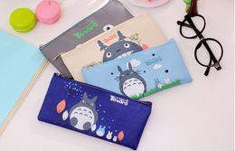 Promotion enfants de bande dessinée étudiants sacs Etudiant Cartoon Miyazaki Totoro Sacs à crayons 2017 enfants Oxford sacs Papeterie sacs Enfants sacs mignons sac 19 * 9cm