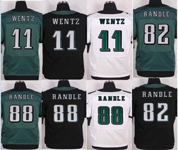 Wholesale NIK Elite New Arrived Randle Hot Men Eagles Carson Wentz Blue White Black women Football Jerseys Mix Order