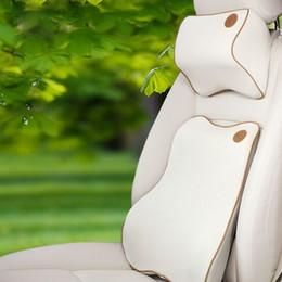 Wholesale Memory Foam Car Rest Neck Pillows Headrest Car Seat Lumbar Back Support black red beige waist cushion accept OEM order