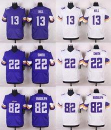 Wholesale 2016 Mens Elite Fran Tarkenton Shaun Hill Kyle Rudolph Harrison Smith Stitched Jerseys Free Drop Shipping