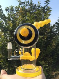 Wholesale honey bee Beautiful color Glass bong Smoking Bong Oil Rig Heady Glass Bong Six Color USA Color oil rig bong mm with mm bowl joint
