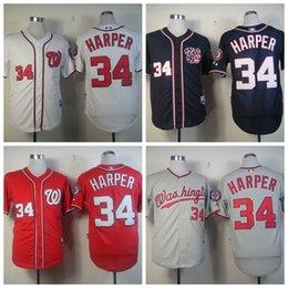 Wholesale NWT Washington Nationals Jersey Bryce Harper Baseball Jersey Blue Red White Jersey Embroidery Logo shirts fashions sports