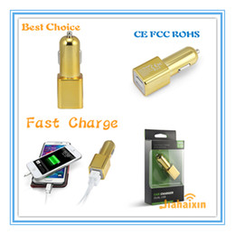Wholesale Original Design BULLET DUAL USB CAR CHARGER ADAPTER TOOLS BEST FOR TRAVEL EASY LIFE for Mobile Phone in car adapter