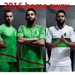 Wholesale Maillot de Foot Algeria Riyad Mahrez Soccer Jerseys Algeria Football SHIRTS Survetement Football Jerseys Shirts