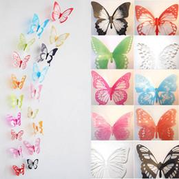 12pcs 3D Butterfly Sticker Design Decal Wall Stickers Home Decor