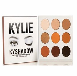 Kylie Jenner Kyshadow eye shadow plate Pressed Powder Eye Shadow Palette the Bronze Palette Kyshadow Kit Kylie Cosmetic 9 Colors