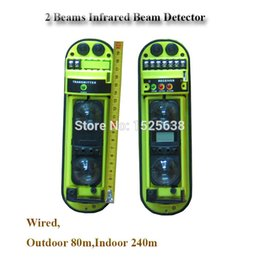 Wholesale Outdoor m Indoor m promotional infrared baluster beam detector for alarm gsm pstn home security alarm system
