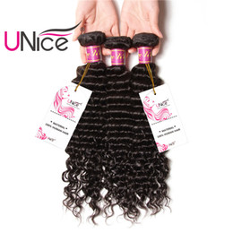 UNice Hair Peruvian Deep Wave 3 Bundles 12-26inch Mix Length Hair Weaving Unprocessed 100% Human Hair Extensions Wholesale Weaves