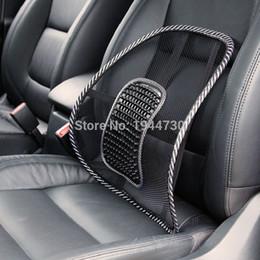 Acheter en ligne Oreillers de soutien lombaire-Livraison gratuite! R1B1 Noir Mesh Cloth Coussin de siège de voiture Lumbar Waist Back Support Lumbar Oreiller