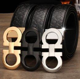Wholesale 2016 Original Designer Big Buckle Belts Mens Business Belts Luxury Ceinture Automatic Buckle Genuine Leather Belts For Men Waist Belt