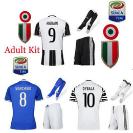 Wholesale Lowest quality Juventus jersey home away sets kiT adult Kit socks DYBALA CHIELLINI LUCAS Goalkeeper BUFFON HI
