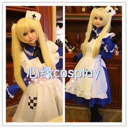 Wholesale APH Axis Powers Hetalia UK England Britain Rosa Kirkland Cosplay Costume Women Lolita Maid Dress Full Set Dress Apron Tie Hat Bowknot Gloves