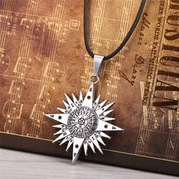 Hot! Black Bulter Necklace Japan Comic Magic Circle Sign Pendant Necklace Fashion Leather Chain Jewelry For Gift