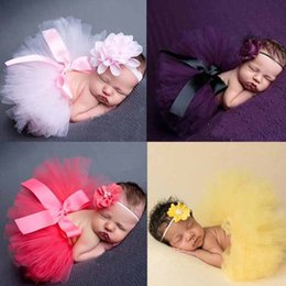 Wholesale 2017 Infant Newborn Baby Headband Girls Tutu Skirts with Bow Outfit Children s Photographic Clothing Set Fancy Costume