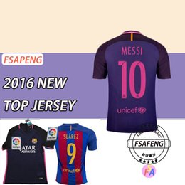 Wholesale 16 top Thailand quality Barcelona soccer jersey Home Away MESSI ARDA A INIESTA Soares et I RAKITIC football jersey
