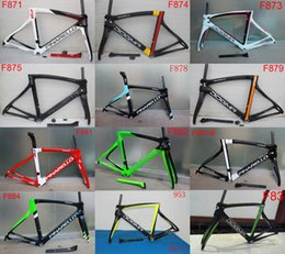 Wholesale Newest white black carbon road frame T1000 carbon bike frame cadre velo carbone road bicycle more colors can choice