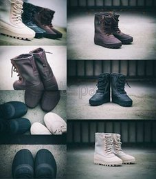 Wholesale 2016 New Kanye West Boots High Cut Boost Casual Shoes Men Running Shoes outdoor shoes sports trainers sneakers size