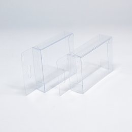 Wholesale Clear Display Packaging Gift Boxes - DHL 400Pcs  Lot 1.5*6*6cm Transparent PVC Plastic Hang Hole Clear Poly Display Package Box For Event Jewelry Gift Pack Boxes