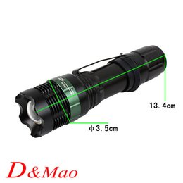 Wholesale Led Flashlight Lumens CREE XM L Q5 led Torch Zoomable LED flashlight Torch light lampe torche