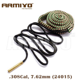 Armiyo Bore Snake Gun Barrel Rope Brush Cleaner Hunting Rifle Cleaning 7.62mm .308 30-30 .30-06 .300 .303 Cal 24015 Bagged Package
