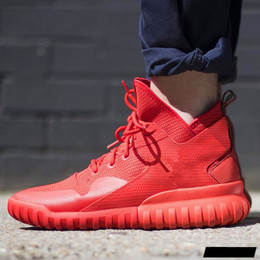 Wholesale Men s Tubular X Running Shoes red October Hot Sale Y3 High Cut Sneakers Shoes for Men Tubular Boost Size