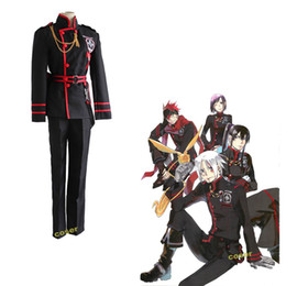 Wholesale Coser Japanese Anime D Gray man Allen Walker Role Cosplay Costumes Clothes Yu Kanda Coat amp Pants amp Belt Uniform Suit