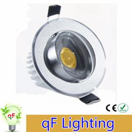 Acheter en ligne Dans la lumière conduit 6w-High Power Led COB Downlights AC85-265V 6W 9W 12W Dimmable Non-Dimmable chauds cool lumières blanches vers le bas avec puissance d'éclairage Pilotes de plafond