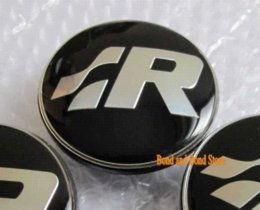 Wholesale 4pcs Volkswagen Wheel Center Caps Rim VW Hub Caps EMBLEM for VW R Line Golf R32 Passat R36 mm