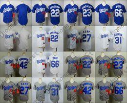 Wholesale 2016 Dodgers Youth Jersey Clayton Kershaw Adrian Gonzalez Matt Kemp Joc Pederson Jackie Robinson Yasiel Puig Kid Size S M L XL