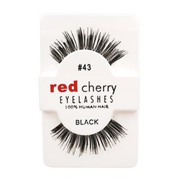 Wholesale Hot Models Fashion Handmade Red Cherry Beauty Hair Eyelashes Adhesive Makeup Glamour Fake Lashes Kind