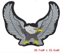hot sale Patch Eagle Motorcycle Embroidered iron on Patches Badge Appliques Back Patch For Jacket Jeans free shipping