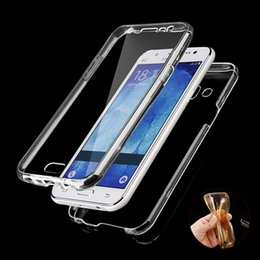 For Samsung Galaxy J1 J2 J3 J5 J7 A3 A5 A7 SLIM 2016 NEW Front+Back Soft Clear TPU Case Gel Silicon Full Body 360 Degree Protect Cover