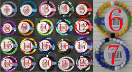 Wholesale Mix Size Mix Colors S M L XL beads bracelets seaside memorial Silicone bracelet with Tags SB090