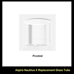 100% Authentic Aspire Replacement Pyrex Glass Tube for Nautilus X Tank Replacement Glass Tube for Aspire Nautilus X Tank Clear and Frosted