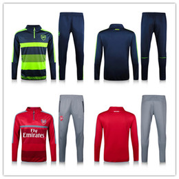 Wholesale 16 Arsenal soccer tracksuit thai quality football sweatshirt full sleeve winter outdoor tracksuits arsenal training suit long trousers