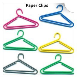 Latas de papel en Línea-200Pcs perchas de papel de forma clips Creative puede colgar fotos y tarjetas Marcadores Memo clip de papelería para la oficina de la escuela Uso del hogar regalo de Navidad