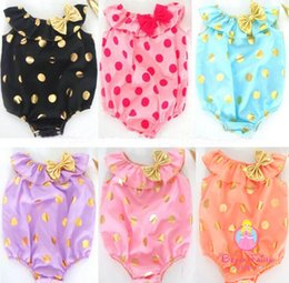 2016 Newest Baby Girl Bowknot Rompers Polka Dot Cut Sleeveless Bodysuits with Headbands Baby sleeveless jumpsuit